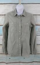 Madewell XS Extra Small Womens Gray Button Collared Long Sleeve Casual Shirt