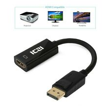 DP to HDMI, Male to HDMI Female Adapter for Macbook, Chromebook & Much More