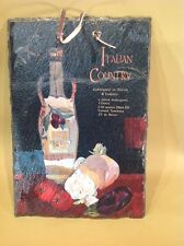 "Vintage Slate Tile ""Italian Country"" With Recipe Picture painted Ingredients"