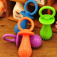 Big Durable Pet Chew Toy Soft Small Rubber Bone Squeaky Dot For Puppy Dog LTCA