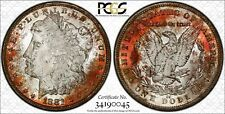 1881-CC $1 Morgan Silver Dollar PCGS MS63 ~ Incredible Unique Toning PCI Toned