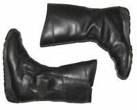 Damen- Motorradstiefel / Biker- Boots Stiefel mit Lederfutter in schwarz ca. 36