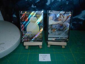 S Lot 4 - Pokemon TCG Stoutland V and Snorlax V  - 2 Holo rare cards