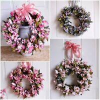 Daisy Wreath Artificial Plants Flowers Silk Garland  Wedding Party Home Decor