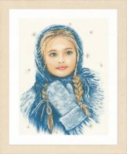 Winter Girl - Lanarte Counted Cross Stitch Kit w/30 Ct. Linen