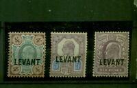 Großbritannien, Aufdruck Levant auf König Georg V.  Nr. 19 - 21