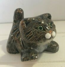 Artesania Rinconada Playful Kitten Cat Figurine Uruguay Art Pottery Handmade
