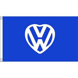I love VW 5'x3' Flag Volkswagen Beetle Camper Van Festival Banner