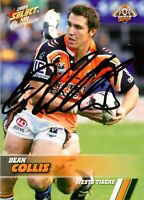 ✺Signed✺ 2008 WESTS TIGERS NRL Card DEAN COLLIS Centenary