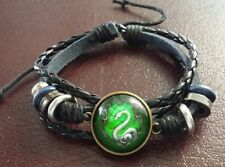 Harry Potter Woven Bracelet Griffindor/Slytherin/Ravenclaw/ Hufflepuff Badges