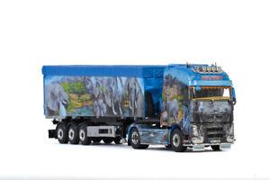 "Volvo FH4 globetrotter XL volume trailer tipper ""Hilker""WSI truck models 01-3183"