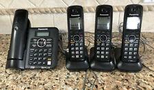 USED ~ Panasonic KX-TG6641 DECT 6.0 Digital Cordless Phone Set with 4 phones