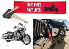Red Loud Pipes Save Lives Keychain Motorcycle Harley Rider New Free Shipping USA