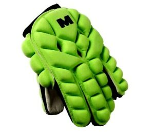 MALIK ABSORBER LIGHT Hockey Glove Green Sports Training with Bag Size Large New