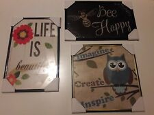 Set of 3 Inspirational Poster Style Pictures