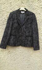 Ladies GERARD Designer Grey / Black Jacket UK Size 14 Vgc
