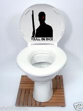 TERMINATOR Style Toilet Seat Sticker Fun Decal Vinyl Sticker xbox ps3 new design