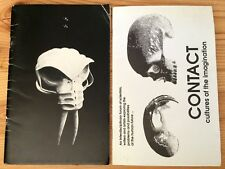 2 Contact Science Fiction Anthropology Convention Program Booklets 1985 1996