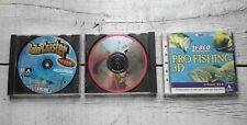 Lot of 3 Rollercoaster Tycoon, Fishing, Golfing CD-Rom Games Windows PC / Mac