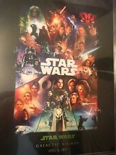 NEW Disney Star Wars Galactic Nights 2017 Celebration Exclusive Poster Limited