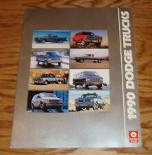 Original 1990 Dodge Truck Full Line Sales Brochure 90 Ram Dakota Ramcharger