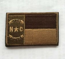 North Carolina FLAG USA ARMY MORALE BADGE Embroidery HOOK  PATCH   AA 1115