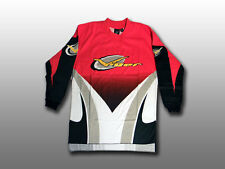 Vintage Old-School Vigor BMX Long-Sleeve Jersey Freestyle Cycling Red/White