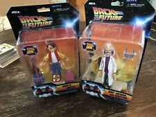 NECA Toony Classics Back to the Future Marty McCoy Doc Brown Action Figure Lot