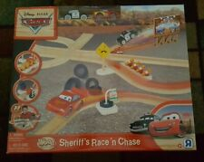 Disney Pixar Cars Wooden Sheriff's Race and Chase Set! New!