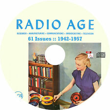 Radio Age Magazine by RCA {61 Issues, 1942-1957} on CD