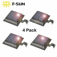 4PACK Solar Light Sensor Outdoor Wall Roof Garden Gutter Fence Lamp *US STOCK*