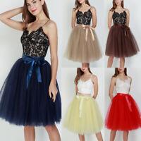 Women Long Tulle Tutu Skirt Girls Party Dress Prom Princess Tutu Bridesmaid Gown
