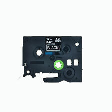 1PK TZe TZ 335 White On Black Label Tape 12mm 8m For Brother P-Touch PT-1650
