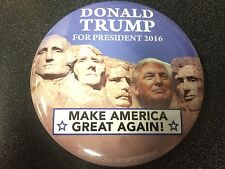 "HUUUGE 2016 Donald Trump for President 3.5"" Button ""Make America Great Again!"""
