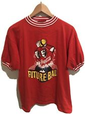 VINTAGE 90s Coca Cola Future Ball T Shirt Red 3d Print Immaculate Grail Size L