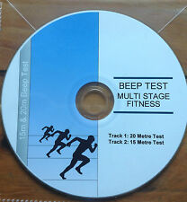 15m & 20m Beep / Bleep Run Test - Multi Stage Fitness CD - Police/ Army Training