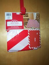 "Huge Gift Bag For Bike / Other Large Gift ~Red & White Stripe ~80""L X 18""W X 42"""