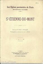 Les églises paroissiales de Paris Saint Etienne du Mont Culture Architecture