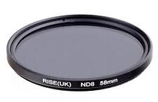 Filtre à densité neutre ND8 58mm Canon Nikon Pentax Sony