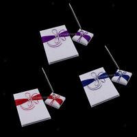 Satin Crystal Guest Book Pen Set Wedding Guest Signing Signature Favors
