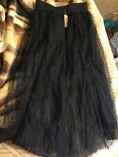 3 Layers Womens Tutu Black Tulle Long Crinoline Bridal Wedding Dress One Size