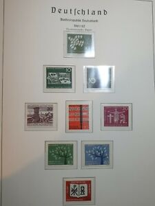 FEDERAL REPUBLIC OF GERMANY AND BERLIN 1961/62  Full stamp sets  MNH