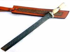 "Custom hand made Damascus steel 24.0"" Tanto' SWORD Hunting knife. (NE-6002)"