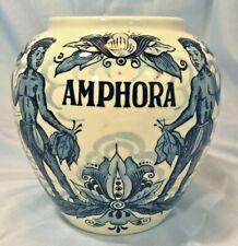 Vintage Amphora Delft Tobacco Humidor Porcelain Jar Made in Holland