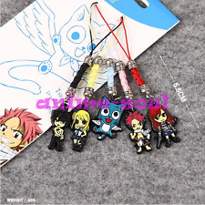 5Pcs Anime Fairy Tail metal keychain pendant Phone Strap keyring 5.5cm