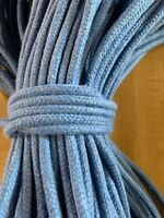"""1/4"""" x 200 ft. of Cotton Blend Rope. Blue Denim. Made In USA"""