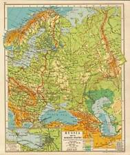 Russia & its Border States 1930 Original Antique Map
