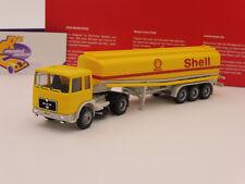 "Herpa 309271 - MAN F8 Benzintank Sattelzug in gelb "" Shell "" 1:87 Neuheit !!"