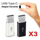 3PCS USB Type C Male Connector to Micro USB Female Converter USB-C OTG Adapter