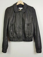 SEE BY CHLOE | Womens Black Zip Leather Jacket NEW [ Size AU 6 or US 2 / EUR 34]